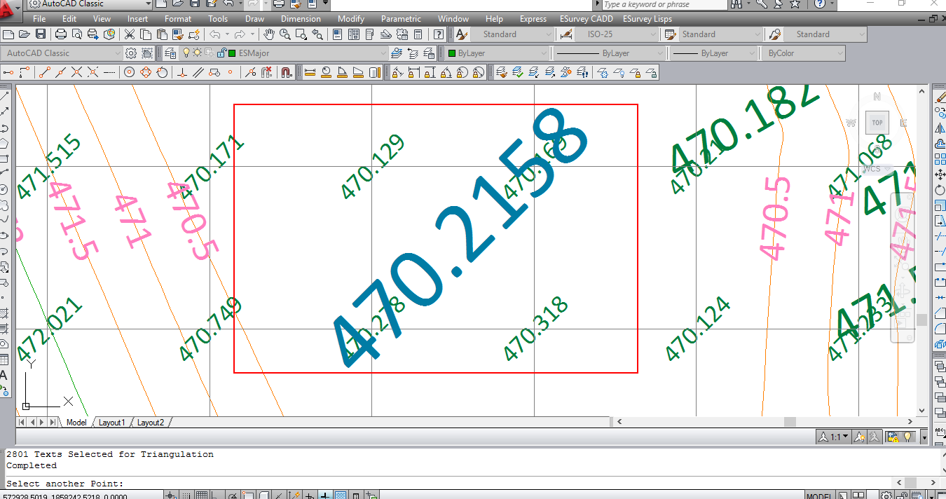 Interpolating Levels In Cad Drawing