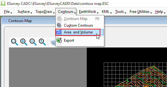 Contour Based Area Voulme Report