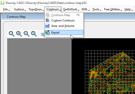 Export Data From Contours