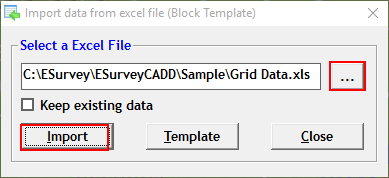 Importing Data Available In Grid Format