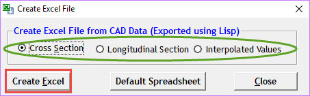 generate section within cad package