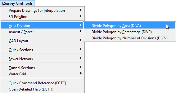 Software to Divide Irregular Polygon based on Area/Divisions