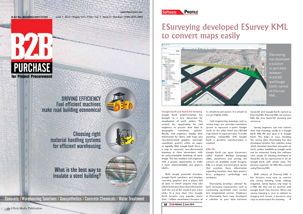 Land Survey Engineering Article: B2B June 2014