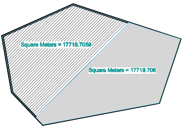 Divide Polygon into to Equal Areas in CAD Package
