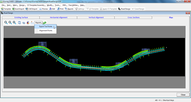 Road Design Software | Road Plan Drawing Generation